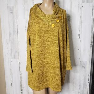 NY collection sweater shirt yellow size 2X